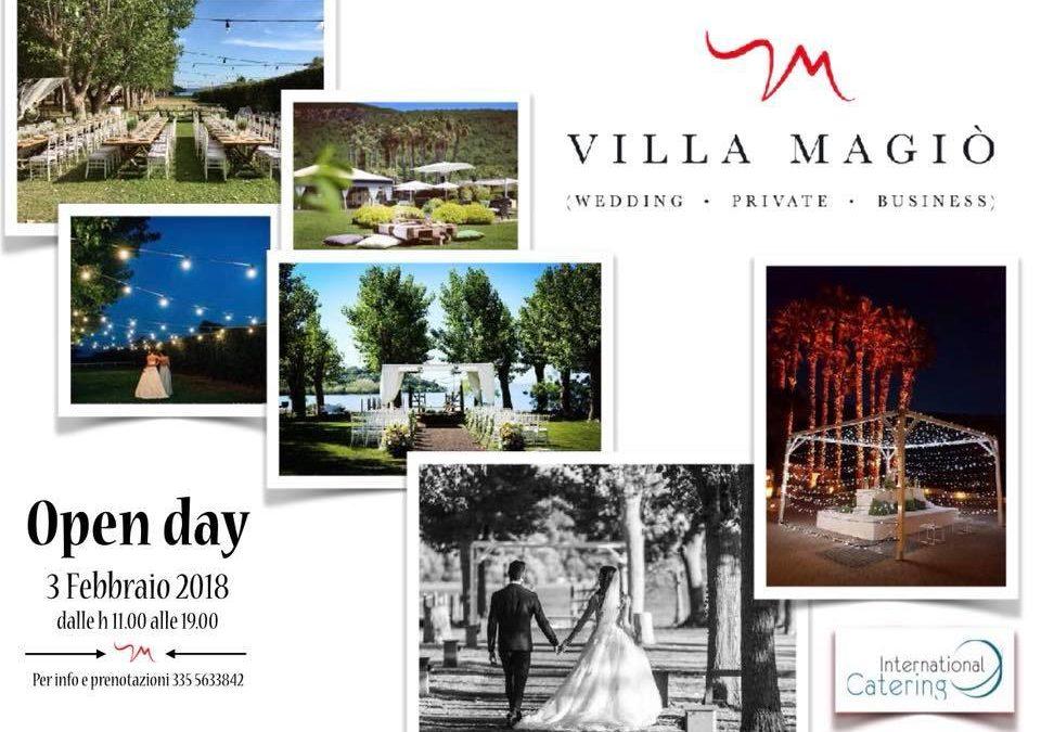 Open Day a Villa Magio', il 3 febbraio dalle 11 alle 19…Non mancate!