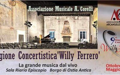 """Il 9 Marzo """"Live in Musical"""" per il Festival Willy Ferrero di Ostia Antica…"""