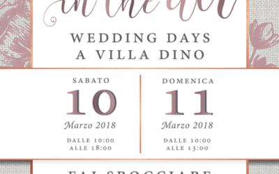 """Il 10 e 11 Marzo """"Open Day"""" a Villa Dino…non mancate!!"""