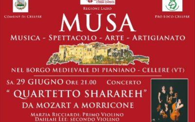 Il 29 Giugno il Quartetto Sharareh in Concerto…Non perdetevelo!!